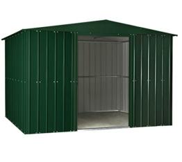 Globel Industries MetallGerätehaus 10x8 heritage green 295x237x203 cm (BxTxH) 7m² Satteldach