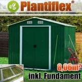 MetallGerätehaus 260x310 Plantiflex  (Grün)