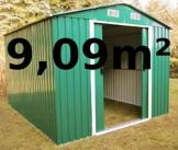 MetallGeräteschuppen 9,09m² aus verzinktem Stahlblech Metall grün von AS-S