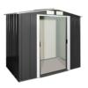 Tepro Metallgerätehaus Eco 6x4 anthrazit / weiß, 202x122.1x180.5 cm 7260