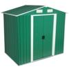 Zelsius MetallGerätehaus Geräteschuppen mit Giebeldach 204 x 130 cm grün