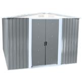 Zelsius MetallGerätehaus mit Giebeldach 2 m x 2,5 m hellgrau