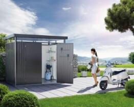 Metall Gerätehaus highline Biohort mit Doppeltür