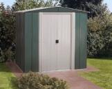 Metallgerätehaus köln 65 dunkelgrün/altweiß 2.66 m² von Arrow