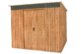 Metallgerätehaus Pent Roof Skylight 8x6 Holz-Dekor Eiche Tepro 7444