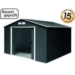 Metallgerätehaus titan 8x10 anthrazit von Tepro ohne Boden