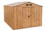 Metallgerätehaus titan 8x10 Holz-Dekor Eiche Tepro 7041 inkl. Unterkonstruktion