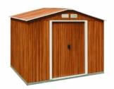 Metallgerätehaus titan 8x8 Holzoptik von Tepro 7015
